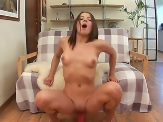This so sex appeal and seductive girl is going not only to expose delights but to play with red dildo too. Watch beauty giving rodeo on the sex toy and youll enjoy.