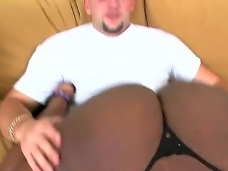 There is times when Jmac fells the extreme need of having the big chocolate ass around his dick. Luckily for him, Boomerang walks in and gives him everything the guy desires.