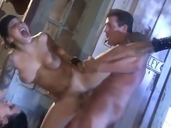 Fucking bad girls being humiliated and fucked in the cunt and asshole by...