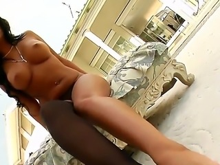 Delightful Angelica Heart is worshiping her sexy feet in front of Pure Angel