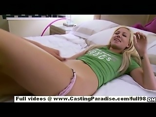 Alexia Skye and Natalie Norton independent blonde lesbian teens with natural tits licking pussy