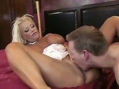 Mark Wood tries to forger his lovely girlfriend with JR Carringtons big boobs...