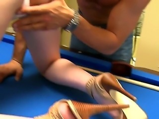 Danny Mountain manages to seduce and deep fuck Marie McCrays sweet hairy pussy