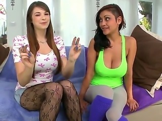 Hot milf Priya Rai is teaching cute Pocahontas Jones how to drive men insane...