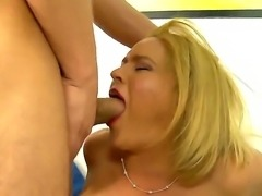 Krissy Lynn is a great milf with appetizing big and succulent boobs. She also...