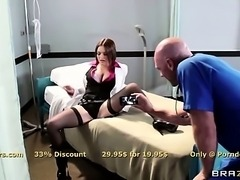 Busty brunette Krissy Lynn has fun in the hospital