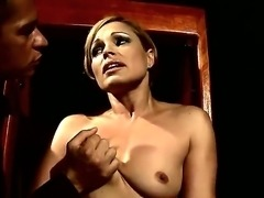 Hot milf Szilvia Lauren gets her nipples ravished by her dominating young...