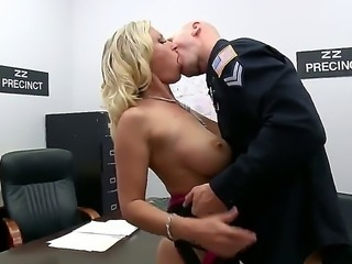Sexy babe Devon Lee and police chief Johnny Sins give each other much oral...