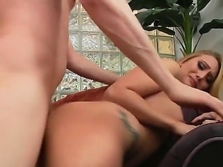 Listen to porn star  AJ Applegate and Mark Wood as they gasp and gag as they the rife of their lives. She is bent over a chair as he takes her from behind before she gives his big cock a mind blowing suck.
