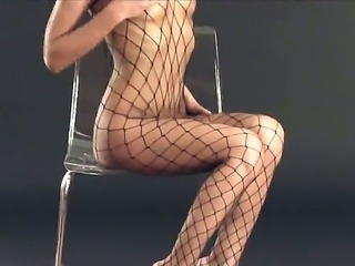 Iveta - hot brunette with stockings on her fucking long and amazing legs,...