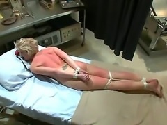 Busty blond Devon Taylor does her first ever sex scene with James Deen in...