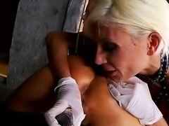 Hardcore lesbian and BDSM scene with a crazy bitch Puma Swede and Sandy