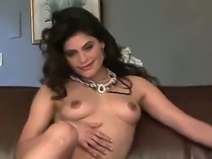 Attractive steaming hot adorable brunette doll