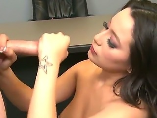 The handjob that Linda Lay is delivering to her partner should get the...