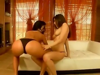 Nature is truly wonderful for giving us such a thing as lesbian sex especially when two hot babes like Juditta and Zafira are licking each others pusses and making true love in the bed.