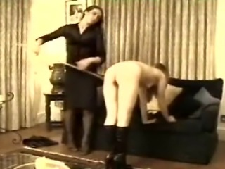 A straight-ahead caning from the end of a golden oldie (hence the less than primo video quality).