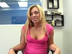 Cute blonde American bitch Jordan masturbates