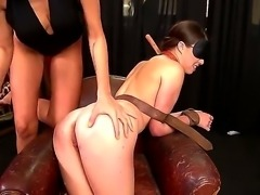 Mistress Clara G is giving worthless slave Tiffany Doll a hard  anal fisting...