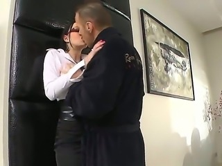 This beautiful brunette sucks a filthy old mans cock. I particularly like the...