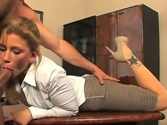 Business lady Brooklyn Lee hired this guy to work not because his skills. She...