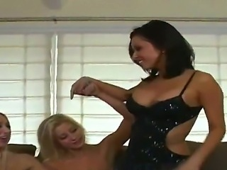 Kina Kai and Sammie Rhodes as well as several other girl gathered together to spent their free time just the way they want, and it of course includes some lesbian action between them.