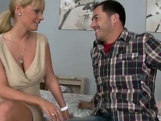 James Brossman enjoys a full hardcore fucking along hot milf Sheila Grant