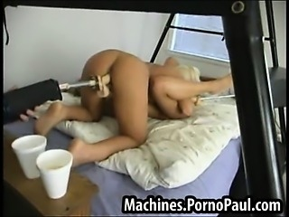 Hot blonds fucked by machines