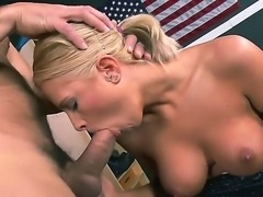 Young and horny Jessica Nyx loves having Ramons huge dick sliding down her...
