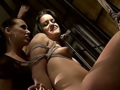 Beautiful Barbie Pink tied her girlfriend Mandy Bright up, so she would not...