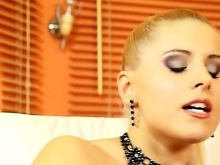 Mistress and servant. Staring Brandy Smile and Kerry. Hardcore fetish movie with great BDSM action. Horny scenes as this blonde mistress uses her sexy slave for her own pleasure.