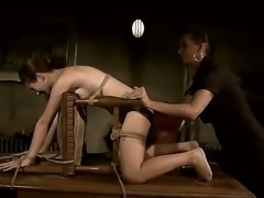 Tall dominating slut Issa Bella is punishing her tied up and helpless...