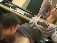 Naughty teacher Jessica Drake gets seduced by hot student and pleased hard