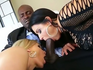 Horny couple likes group sex and today they seduce their sweet maid! The girl seems to be shy but she reveals her passionate nature and joins very nasty process.