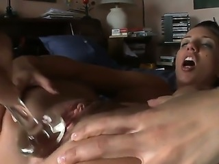 This silly little slut plays with