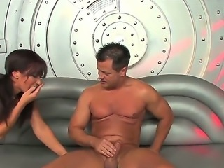 Gorgeous Jayden Jaymes is worshiping studs huge rod with blowjob and amorous...