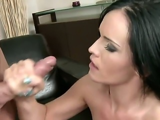 Melanie Doll is astounding and gorgeous black haired lady. She has beautiful model-quality face and slender body. Today we present you an exclusive backstage movie with Melanie and her fucker.