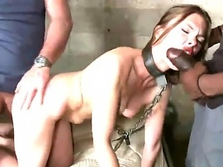 Good looking brunette babe Sasha Swift with natural boobs and pretty face gets demolished in gang bang with filthy fuckers Bobby Bends, Mark Davis, Mark Wood, Michael Bridalveil and Mickey Mod.