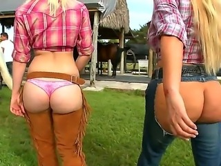 Today we have Rachel Starr, Karen Fisher and Marissa walking outside with...