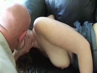 Hairy brunette loves to fuck