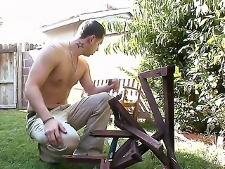 Horny and handsome guy got his neighbor Isis Love to have an wild sex with...