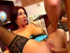 Tiffany Mynx is one of the naughtiest teachers and today she will give Johnny...