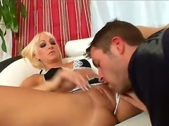 Blonde milf Rachel Luv meets her son and his best friend at the kitchen! Rachel seems that her pussy needs to be drilled. She called her sons friend for a tete-a-tete conversation.