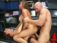 Johnny Sins meets two flawless and mesmerizingly hot porn stars Juelz Ventura...