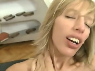 Everybody loves Roccos big cock, but this slut Bella Morgan is really fond of it. She sucks it like a vacuum cleaner and thankful Rocco is going to destroy her pussy with his machine.