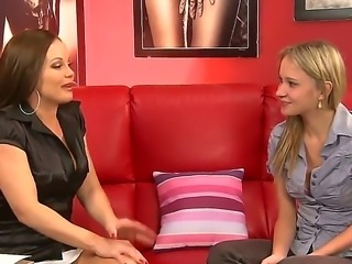 Angel J and Silvia Saint are horny and eager to enjoys a short lesbian softcore