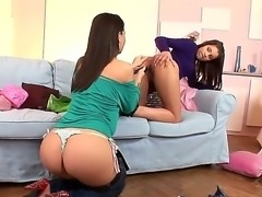 These two hot beauties Angel Rivas and Eve Angel cant live without having...