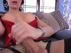 Dark haired and sexy shemale Danika