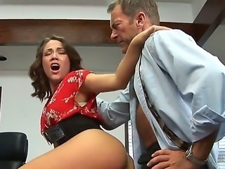 Kristina Rose gets fucked hard by her new boss Randy Spears during the lunch break