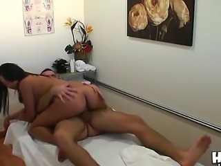 Lucky Daniel Hunter get pleasured with dirty massage by amazing Asian beauty...