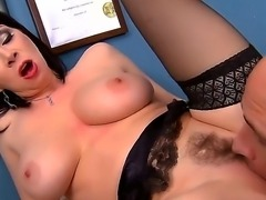 Hello to everyone! I am glad to show you this great scene with a dangerous bitch RayVeness and her fucker Johnny Sins. She gets his dick and sucks it! So watch and enjoy!